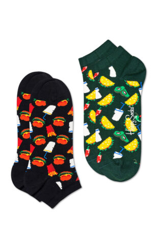Happy Socks - Stopki Hamburger (2-pack)