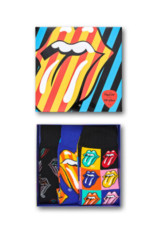 Happy Socks - Skarpetki Giftbox x Rolling Stones (3-pack)