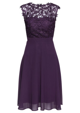 Sukienka z koronką bonprix ciemny lila