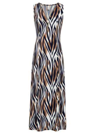 Sukienka ze stretchem bonprix w animalistyczny deseń