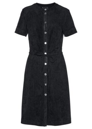 Sukienka welurowa bonprix czarny