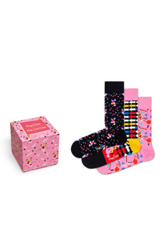Happy Socks - Skarpetki Giftbox x PINK PANTHER (3-pack)