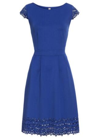 Sukienka z wycięciami bonprix ciemnoniebieski