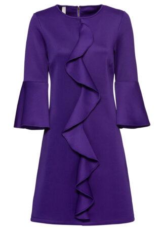 Sukienka z falbaną bonprix ciemnoniebieski