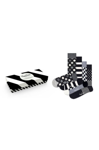 Happy Socks - Skarpetki Classic Black & White (4-pack)