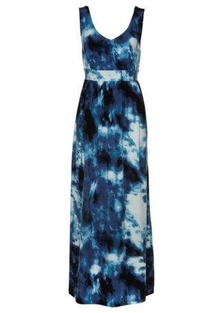 Sukienka shirtowa bonprix ciemnoniebieski z nadrukiem