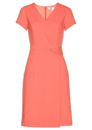 Sukienka ołówkowa bonprix łososiowy pomarańczowy