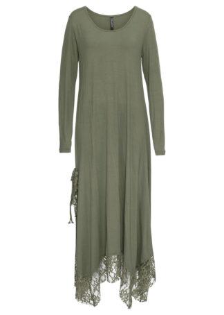 Sukienka shirtowa z kieszenią bonprix oliwkowy