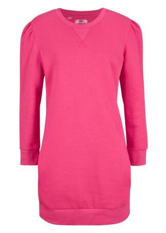 Sukienka dresowa z bawełny organicznej bonprix ciemnoróżowy