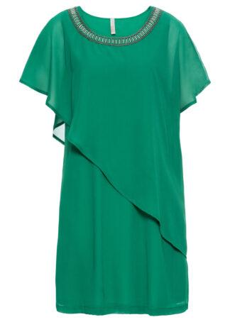 Sukienka z aplikacjami bonprix zielony miętowy