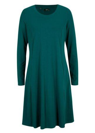 Sukienka z dżerseju z bawełny organicznej bonprix głęboki zielony