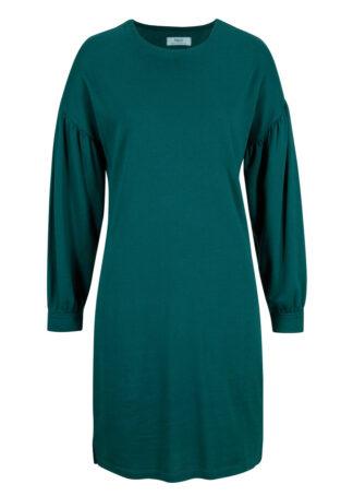 Sukienka dresowa LENZING™ ECOVERO™ bonprix głęboki zielony
