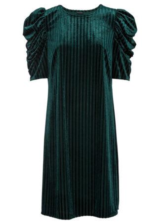 Sukienka aksamitna bonprix zielony