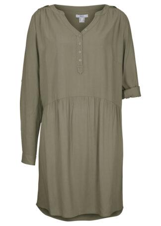 Sukienka koszulowa z wiskozy