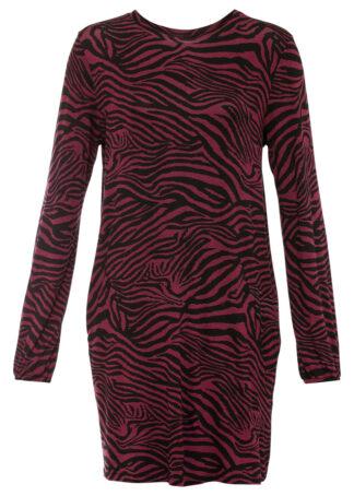 Sukienka shirtowa bonprix ciemnojeżynowo-czarny
