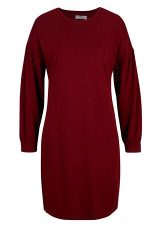 Sukienka dresowa LENZING™ ECOVERO™ bonprix czerwony rubinowy