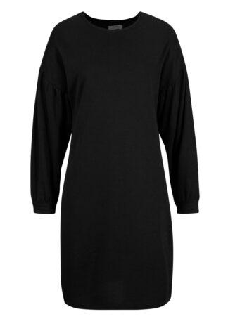 Sukienka dresowa LENZING™ ECOVERO™ bonprix czarny