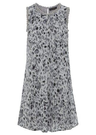 Sukienka bez rękawów bonprix szaro-czarny