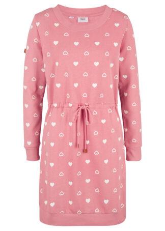 Sukienka dresowa bonprix dymny różowy