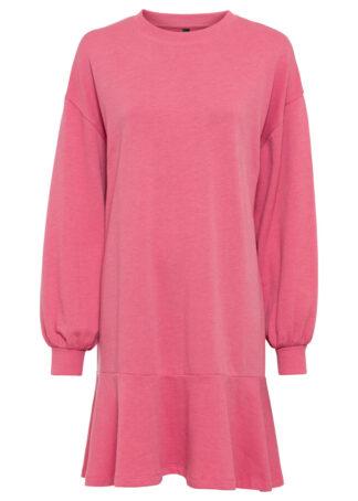 Sukienka dresowa bonprix pastelowy jasnoróżowy