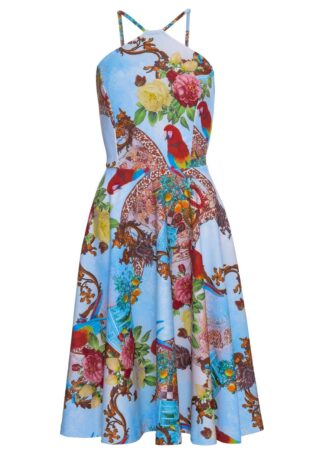 Sukienka z nadrukiem bonprix jasnoniebieski wzorzysty