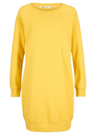 Sukienka dresowa z rękawami reglanowymi bonprix żółty tulipan