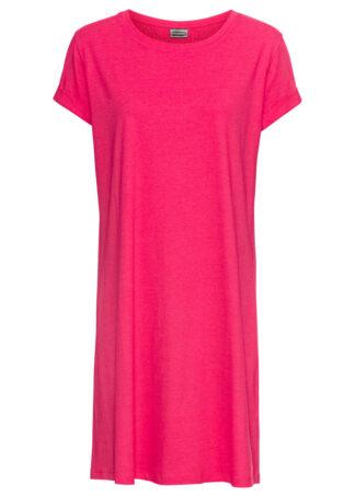 Sukienka shirtowa bonprix różowy hibiskus