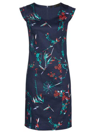 Sukienka ołówkowa bonprix ciemnoniebieski w kwiaty