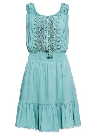 Sukienka z koronką bonprix niebieski mineralny