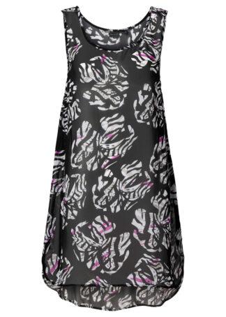 Sukienka plażowa bonprix czarno-biały
