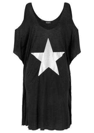 Sukienka plażowa z wycięciami bonprix czarny