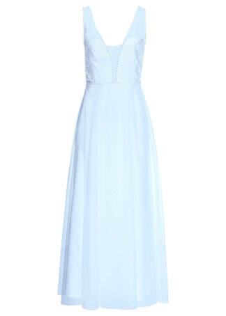 Sukienka wieczorowa bonprix pudrowy niebieski