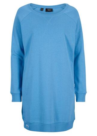 Sukienka dresowa z rękawami reglanowymi bonprix niebieski