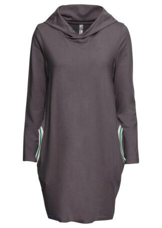 Sukienka shirtowa w optyce dresowej