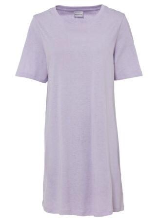 Sukienka shirtowa bonprix fiołkowy bez