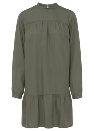 Sukienka koszulowa TENCEL™ Lyocell bonprix oliwkowy
