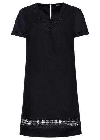 Sukienka z koronkową wstawką bonprix czarny
