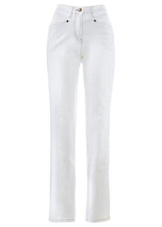 Dżinsy ze stretchem bonprix biały
