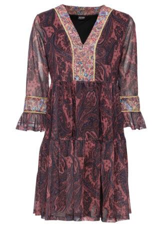 """Sukienka tunikowa z nadrukiem bonprix czerwonobrązowy """"paisley"""""""