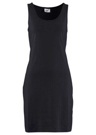 Sukienka z dżerseju ze stretchem bonprix czarny