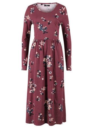 Rozkloszowana sukienka maxi z dżerseju