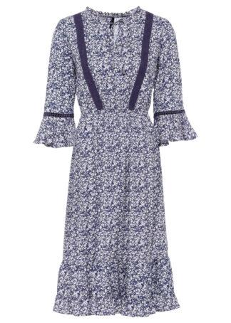 Sukienka bonprix lila wzorzysty