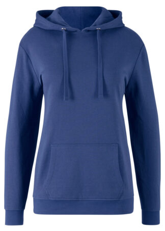 Bluza z kapturem basic bonprix kobaltowy