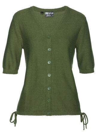 Sweter rozpinany bonprix ciemny khaki