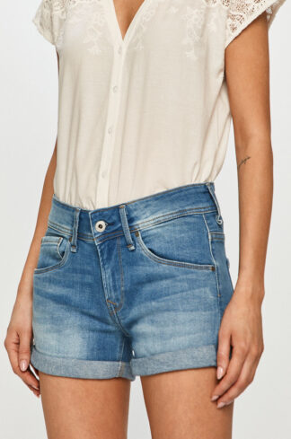 Pepe Jeans - Szorty jeansowe Siouxie