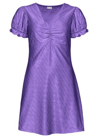 Sukienka z rękawami balonowymi bonprix hiacyntowy lila