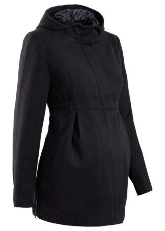 Płaszcz ciążowy z kapturem