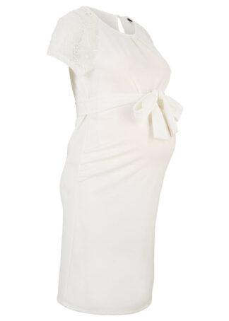 Sukienka ciążowa ślubna bonprix biały