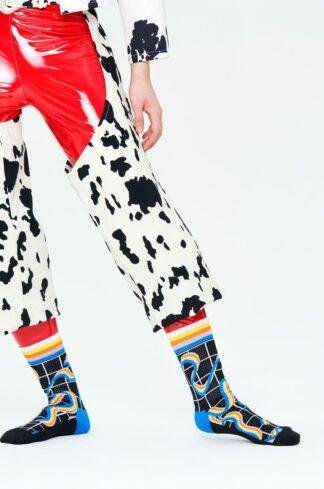 Happy Socks - Skarpetki Squiggly Rainbow Crew