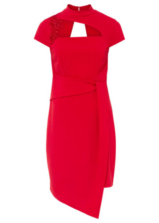 Sukienka z wycięciem bonprix czerwony
